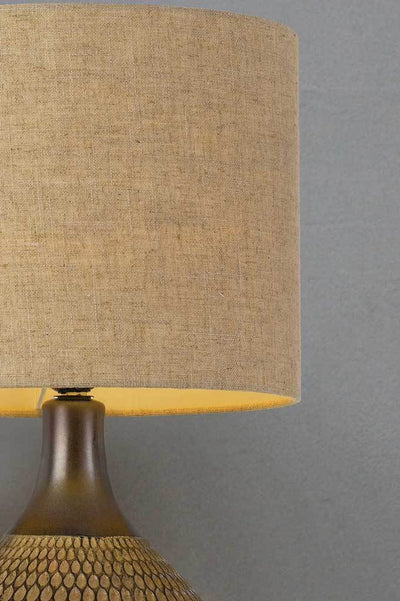 Fabric table lamp ceramic vintage style