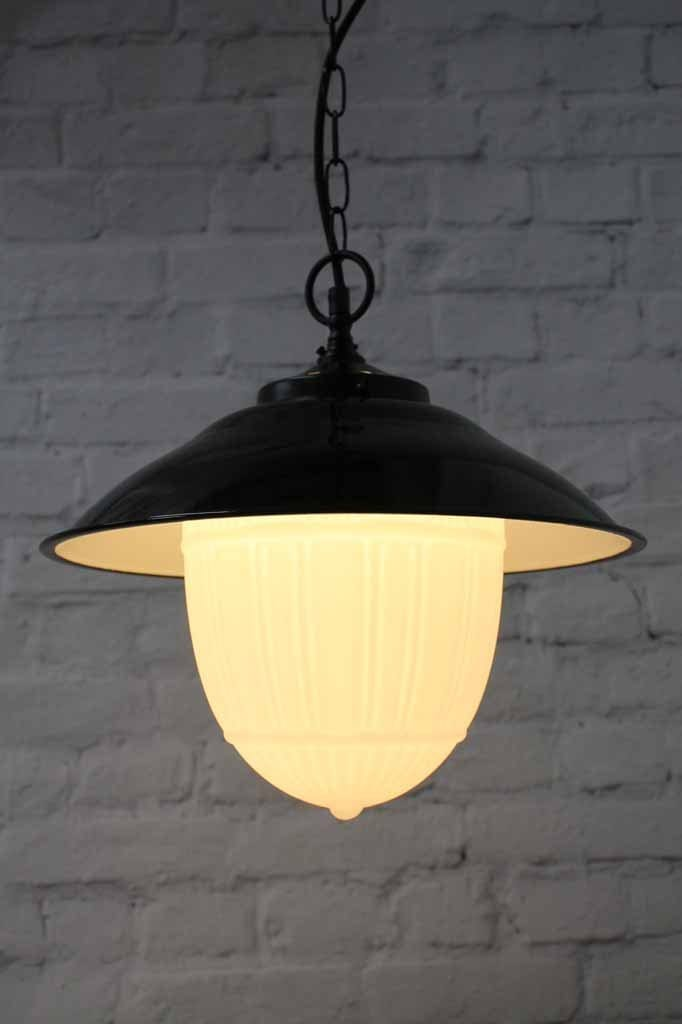 Galleria opal pendant light with art deco design
