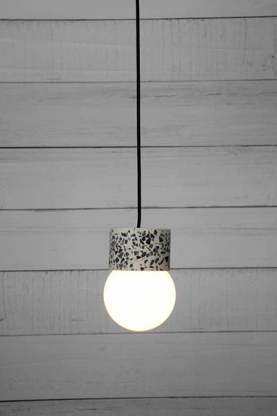 Glass ball light with terrazzo lampholder online