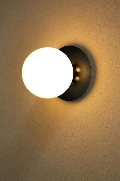 Glass Ball Disc Wall Light