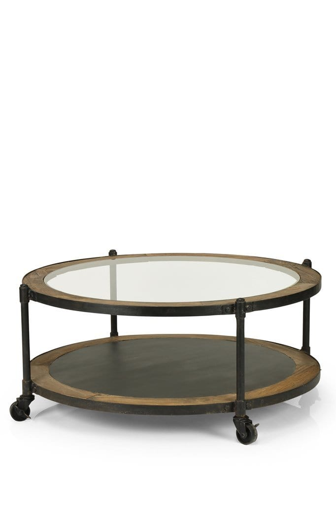 Large round glass coffee table online furniture