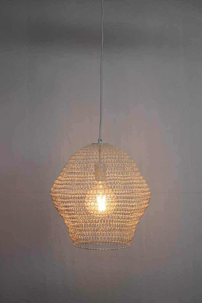 grey wire pendant light