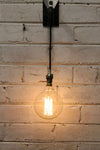 Hanging wall light is perfect for creating a bold naked lighting statement when using a edison bulb