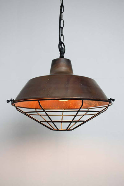 Industiral copper pendant lights shop now Australia top entry chain black cage
