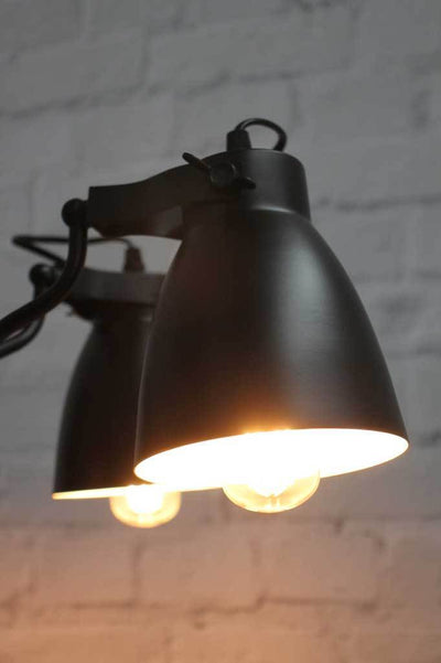 Industrial black pendant multi light
