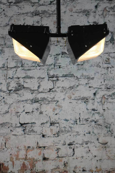 Industrial flusth mount ceiling light
