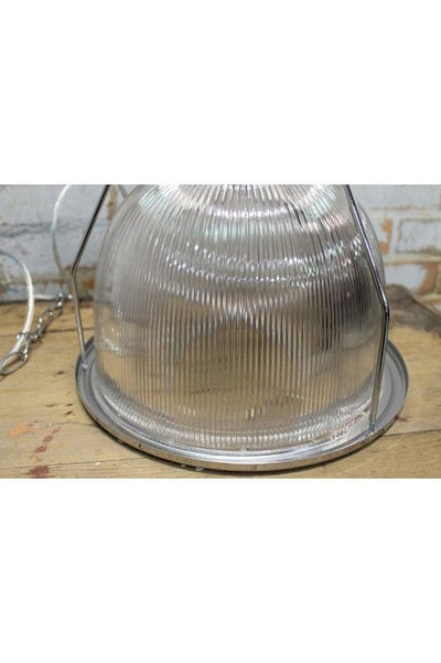 Industrial pendant light with polycarbonate shade