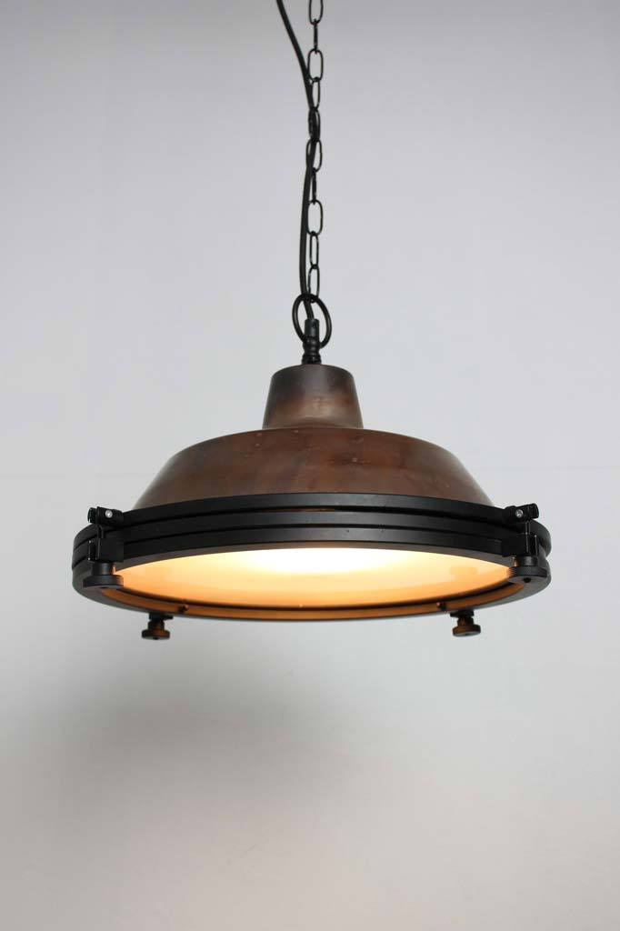 Industrial style chain copper pendant lights online