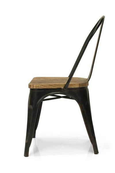 Industrial styled steel antique black chair online furniture Melbourne