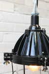 Industrial cage light with black finish