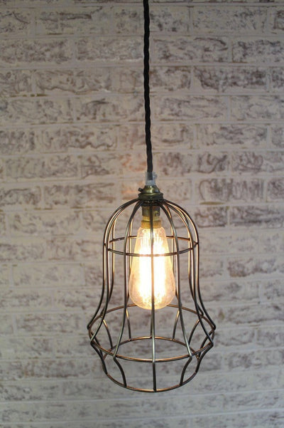 Industrial chic bell cage light