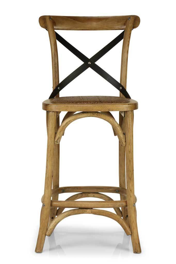 Bentwood bar stool rattan seat furniture