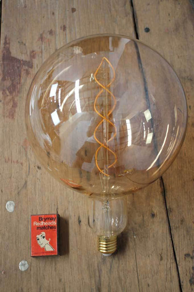 Large round vintage style light bulb shop Melbourne