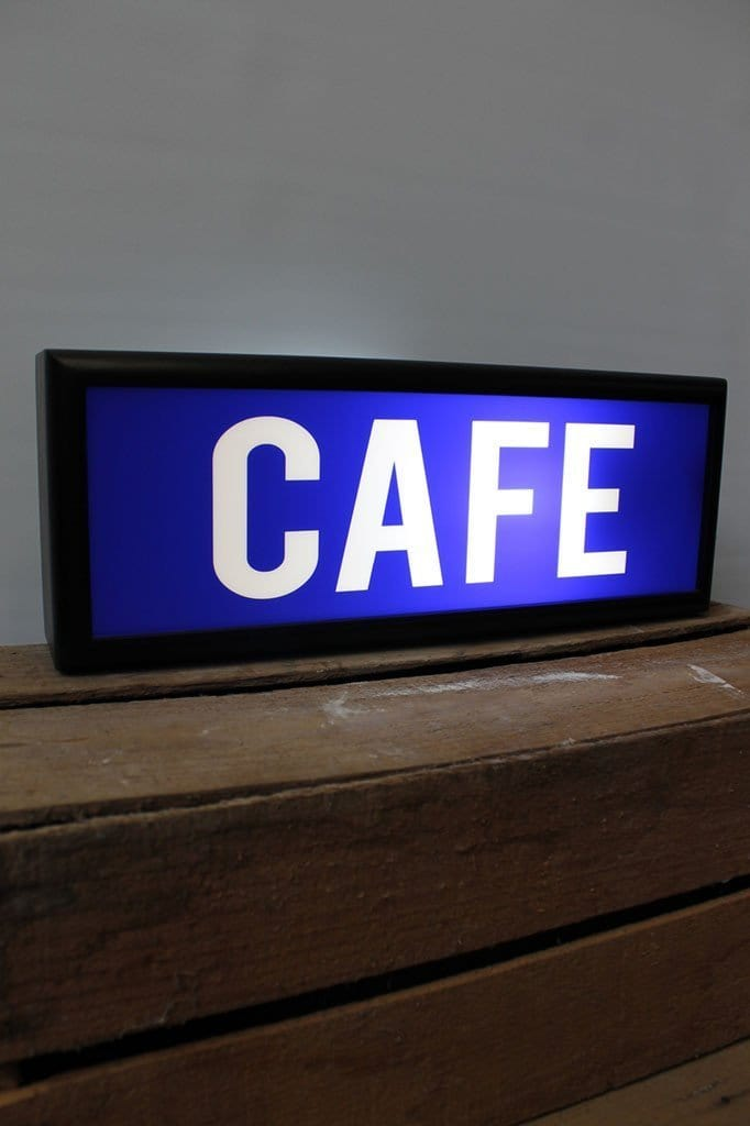 Lightbox cafe on display
