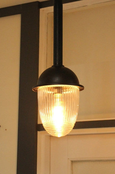 Lighting set. vintage style rod pendant for outdoor entertainment area patio or entryway.