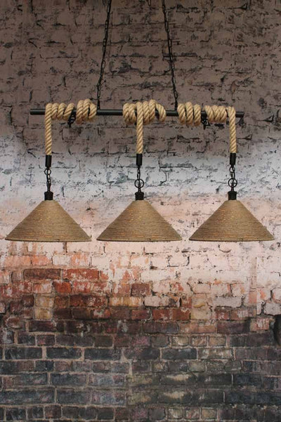 linen rope swing pendant light