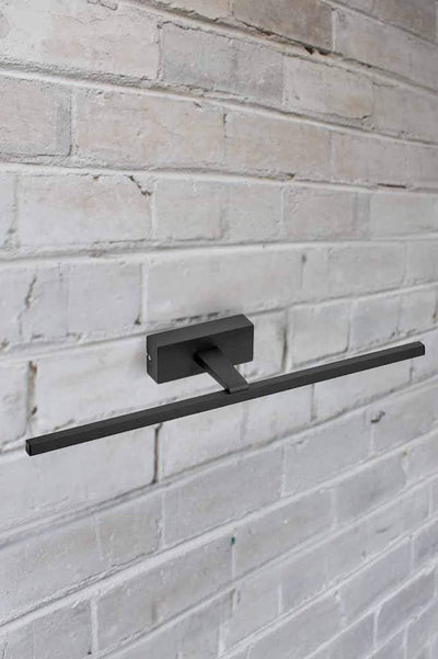 black metal wall light
