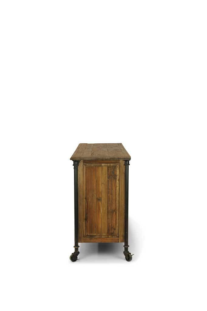 Picture of: Maison 3 Door Buffet Table In Style Of Antique Sideboard Fat Shack Vintage