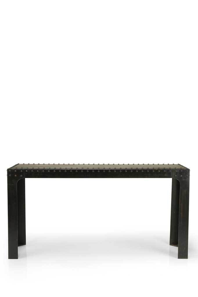 Picture of: Harbour Industrial Console Wall Table Melbourne Furniture Online Fat Shack Vintage