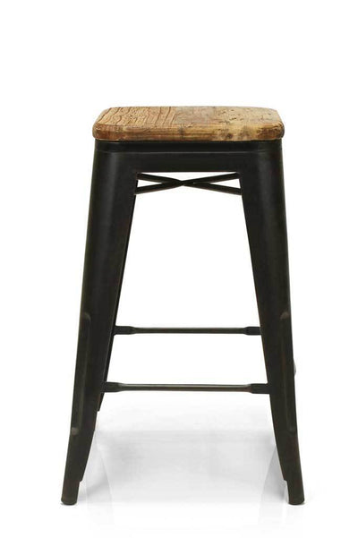 Natural wood bar stool steel chair online furniture Melbourne