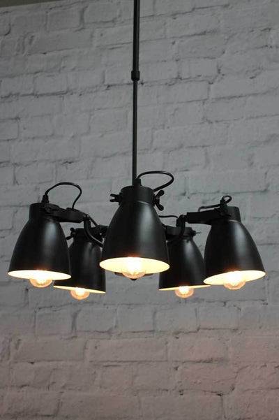 Black Multi Light Pendant