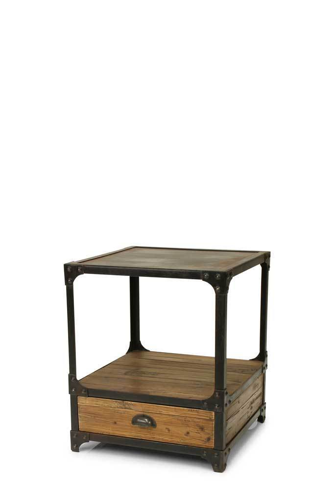 Picture of: Brooklyn Industrial Side Table Bedside Tables Melbourne Fat Shack Vintage