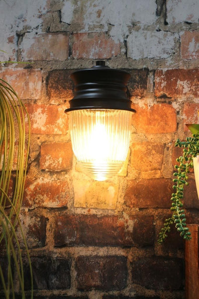 Outdoor wall light for front door backyard lighting brick Melbourne home