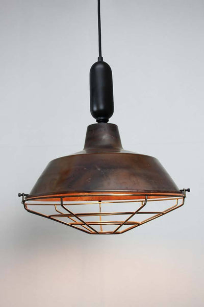 Pendant lighting Melbourne tube cord antique cage