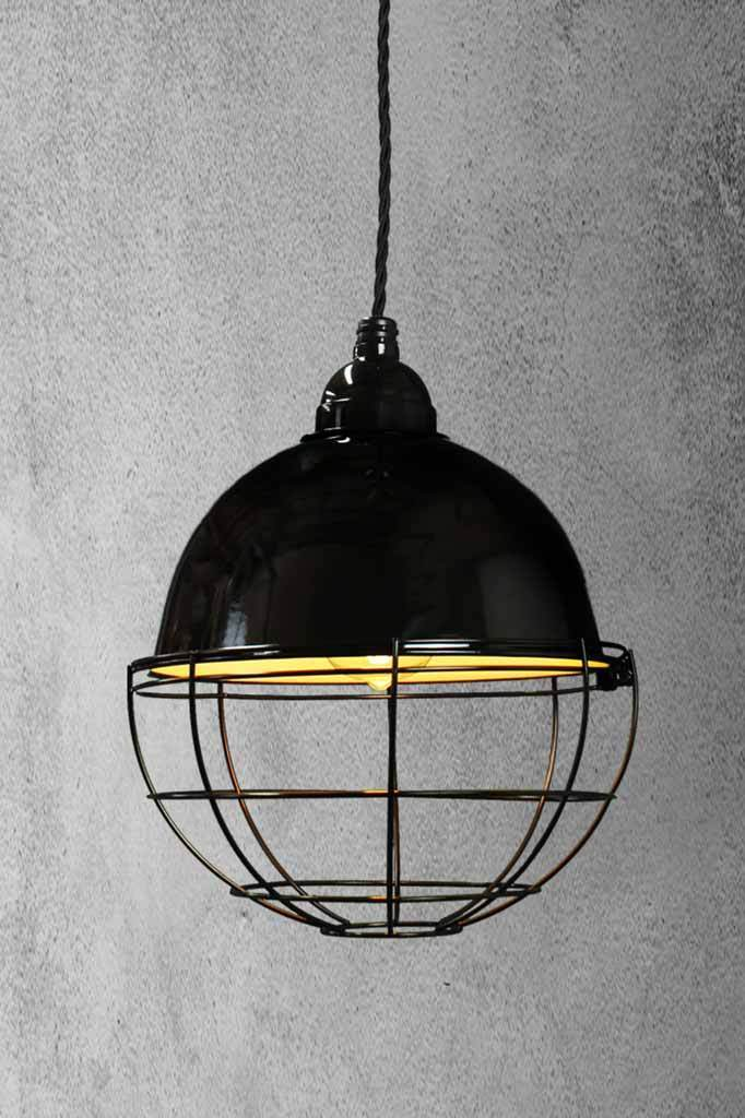 Glossy black porcelain enamel shade which will complement a host of interior designs