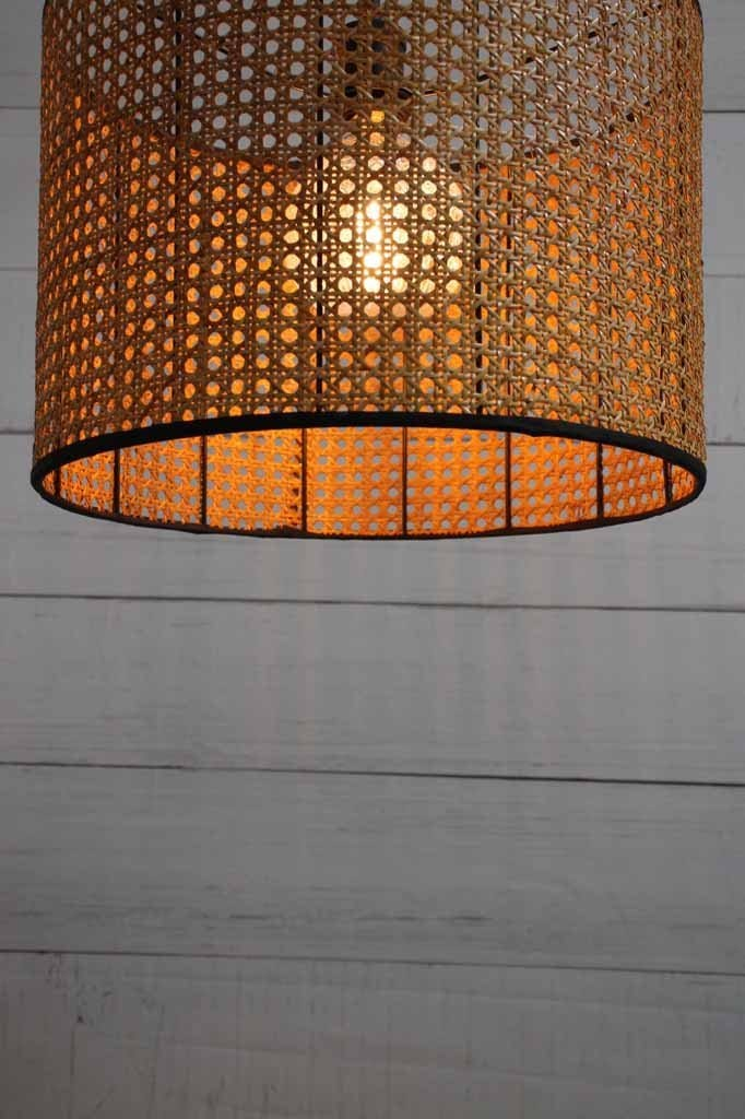 wicker dome ceiling light