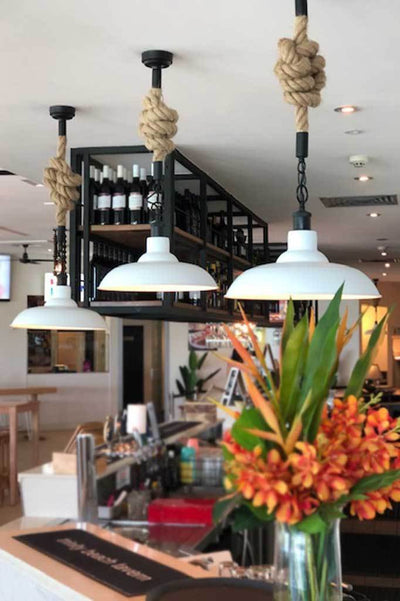 Rope pendant cord ceiling lights online Melbourne