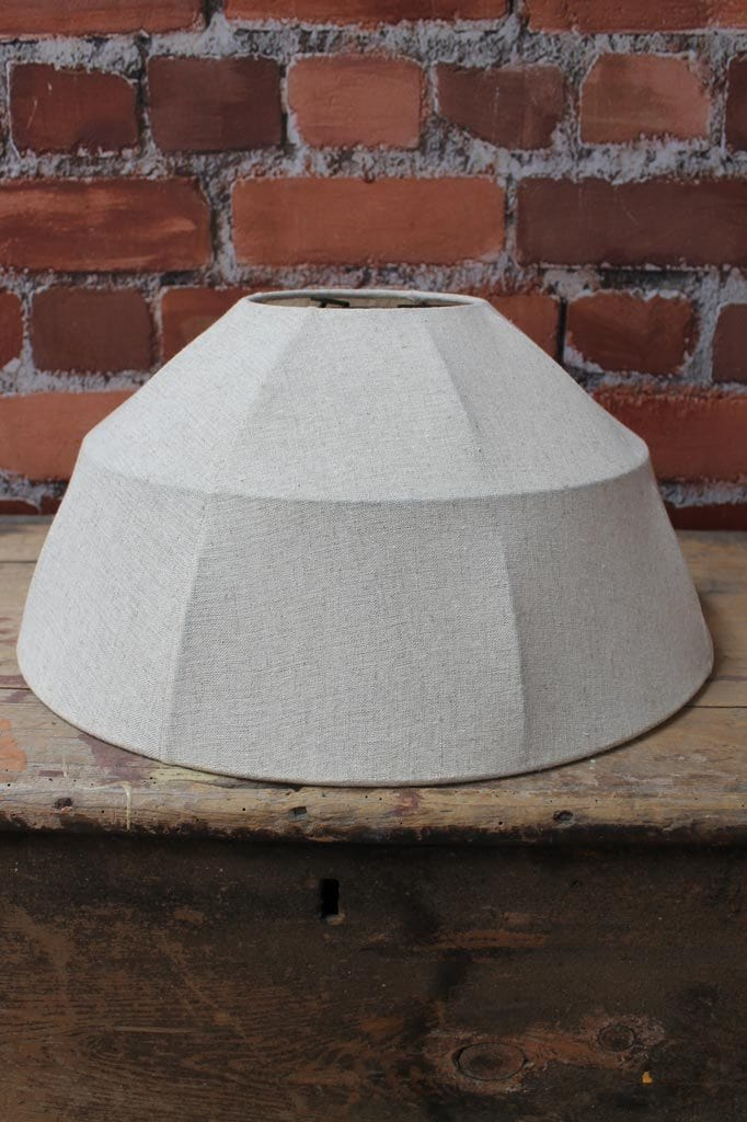 Round fabric light shade farmhouse style