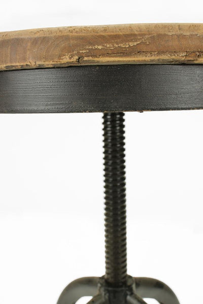Rustic bar stool with swivel seat