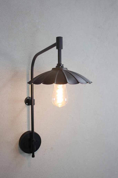 Rustic industrial provincial wall light black