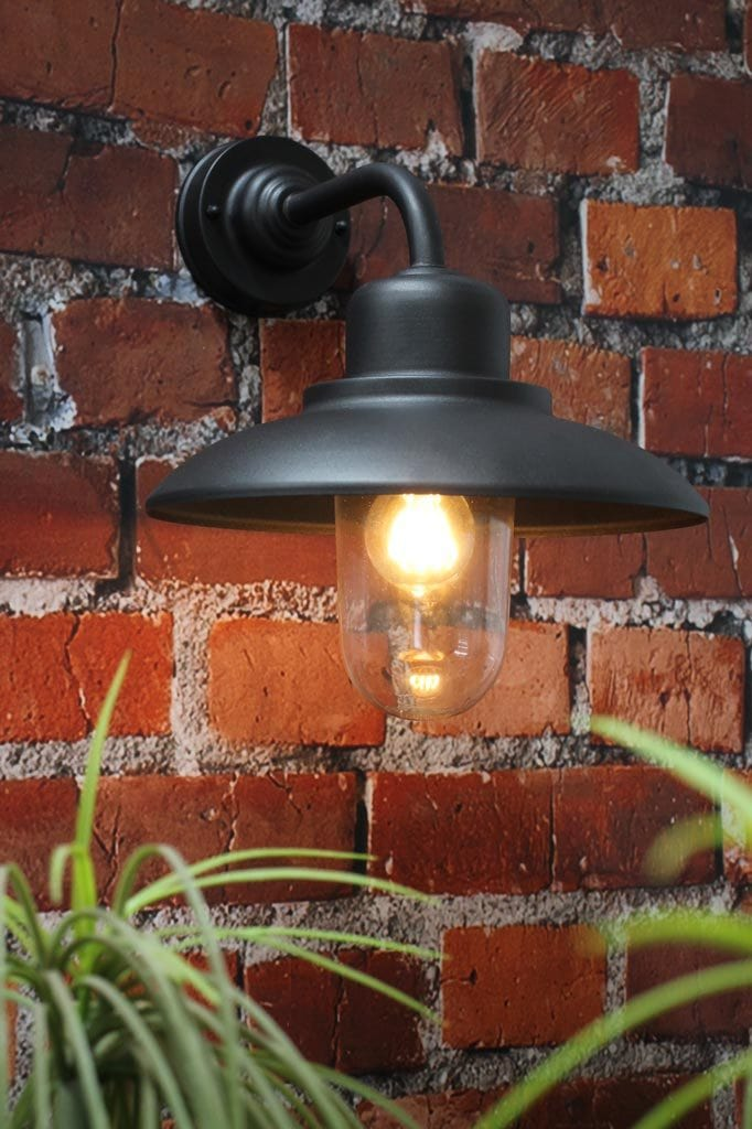 Rustic outdoor steel wall light