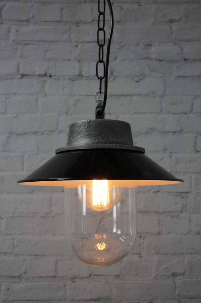 Shinny black shade textured pendant lighting