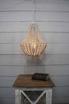 Single pendant light with vintage exposed bulb style coastal living beach house styling