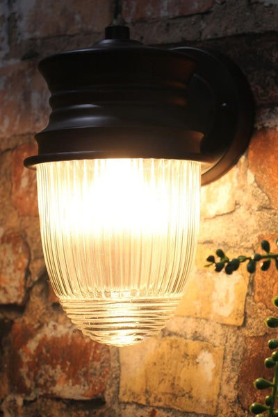 Small steel weather resistant outdoor wall light