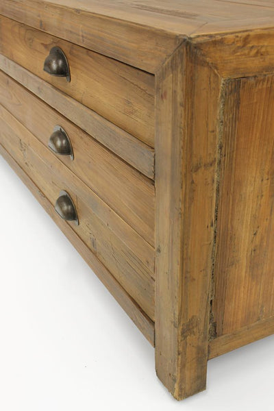 Small wooden coffee table storage drawers