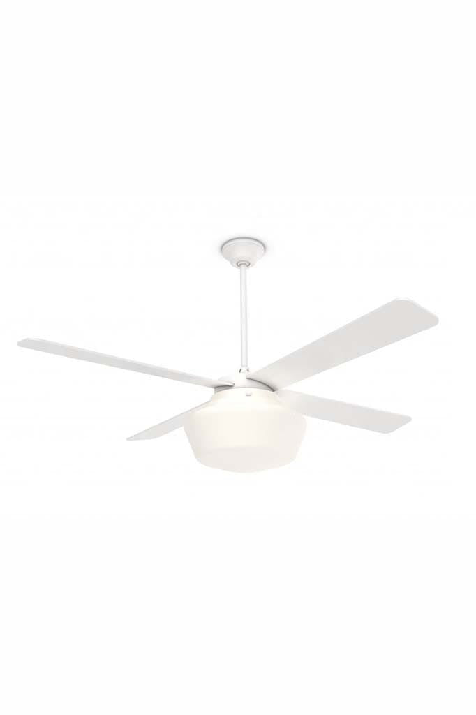 Schoolhouse Indoor Ceiling Fan with Light