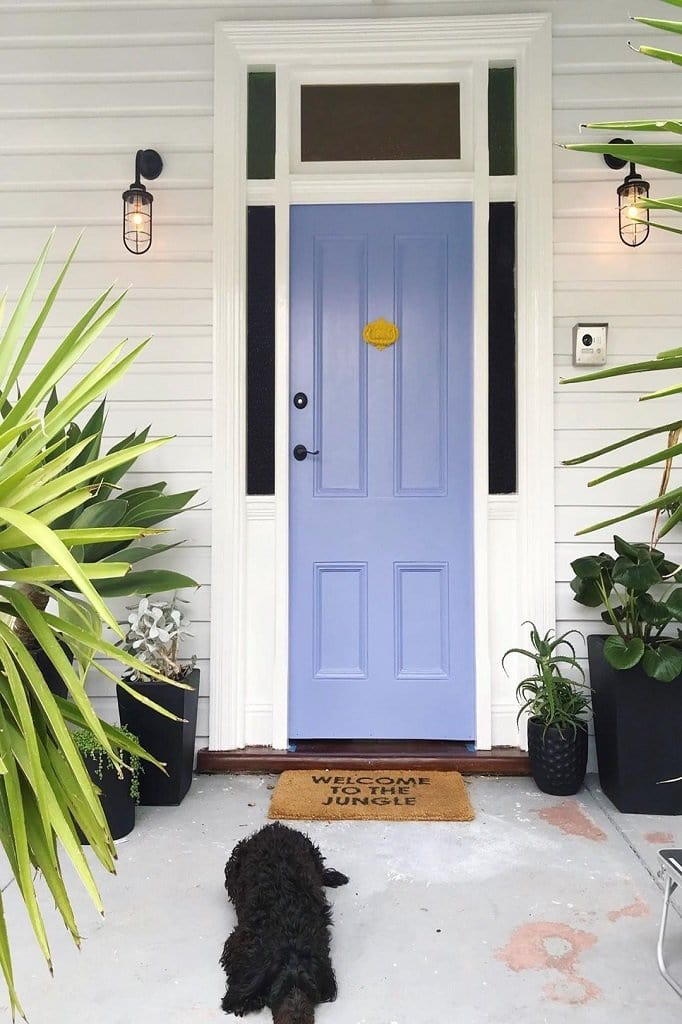 Use front door or backdoor entryways outside your home