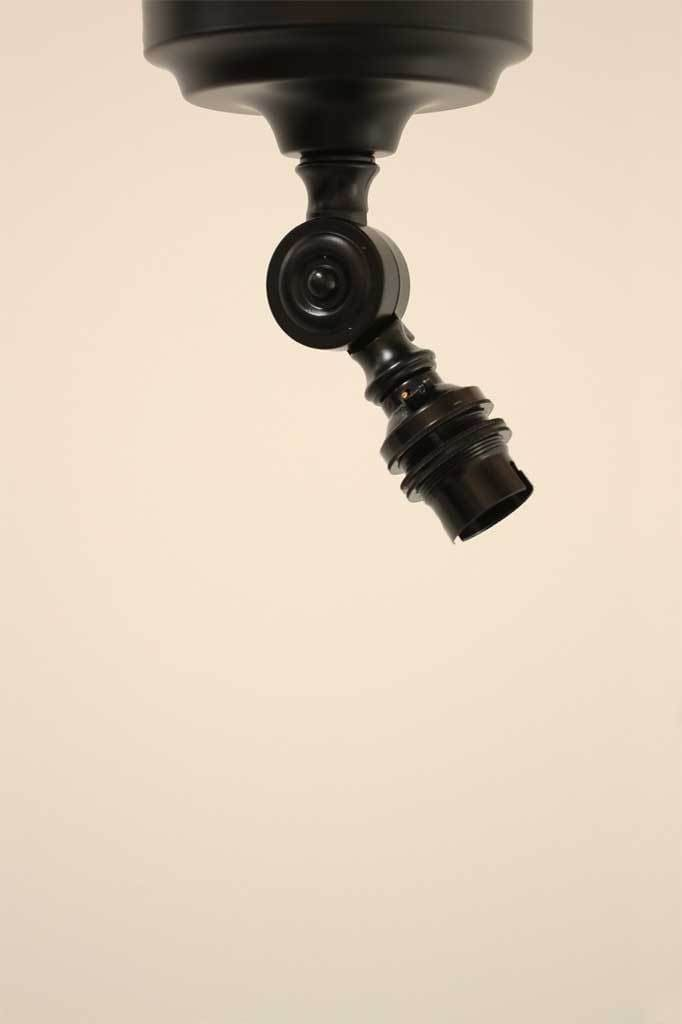 Swivel arm black metalware lampholder