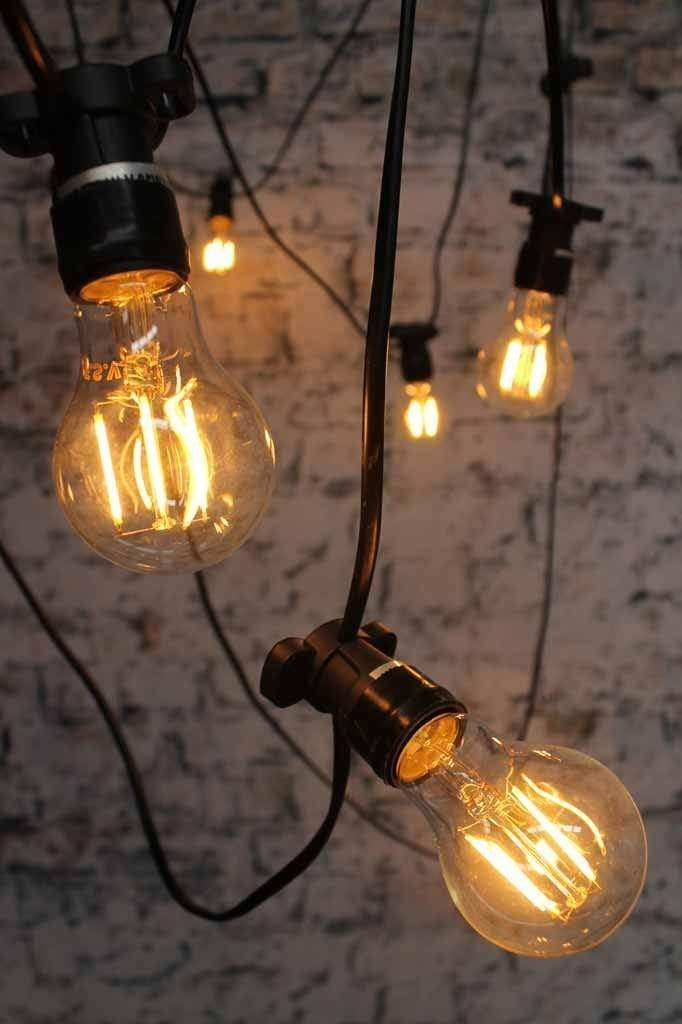 Festoon lighting outdoor string lights party lights wedding the led filament bulb a60 2w non dimmable is a less powerful bulb aloadofball Images