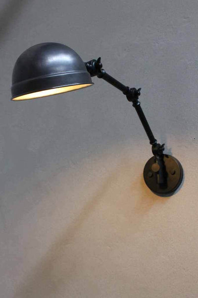 Two arm wall light. antique bronze shade modern industrial wall lamp is a stylish and practical wall sconce light for any room