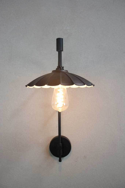 Umbrella wall light black modern rustic Melbourne buy lights