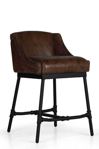 Vintage bench chair leather bar stool Australian furniture online