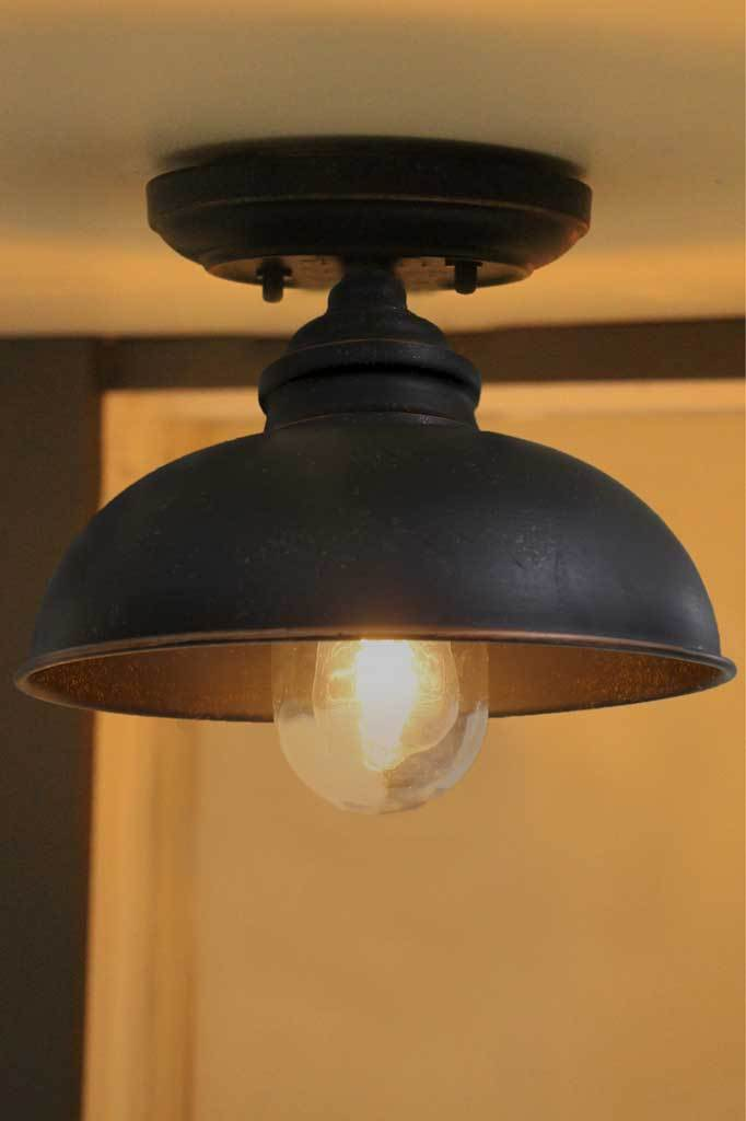 Vintage dome flush mount light