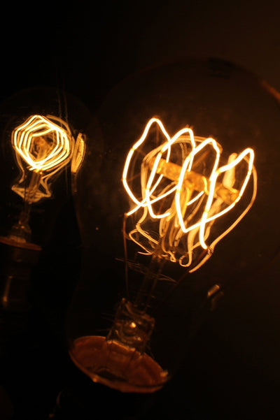 Vintage style light bulbs edison bulb quad loop round