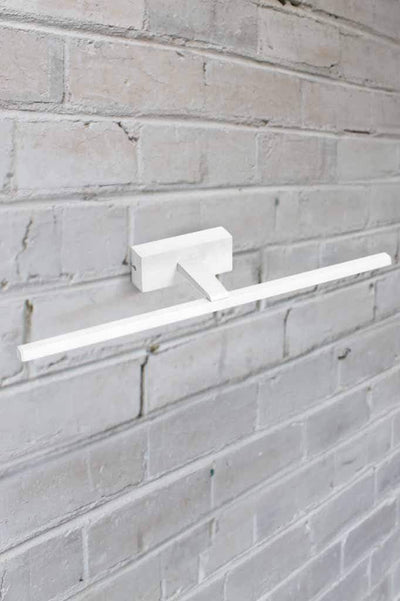 white linear outdoor light