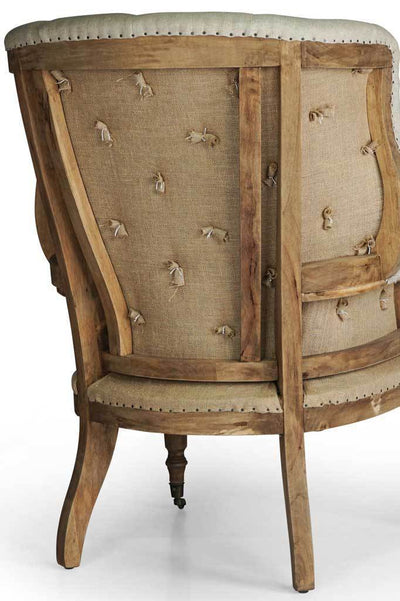 Wingback french provincial fabric armchair Australian furniture online rustic